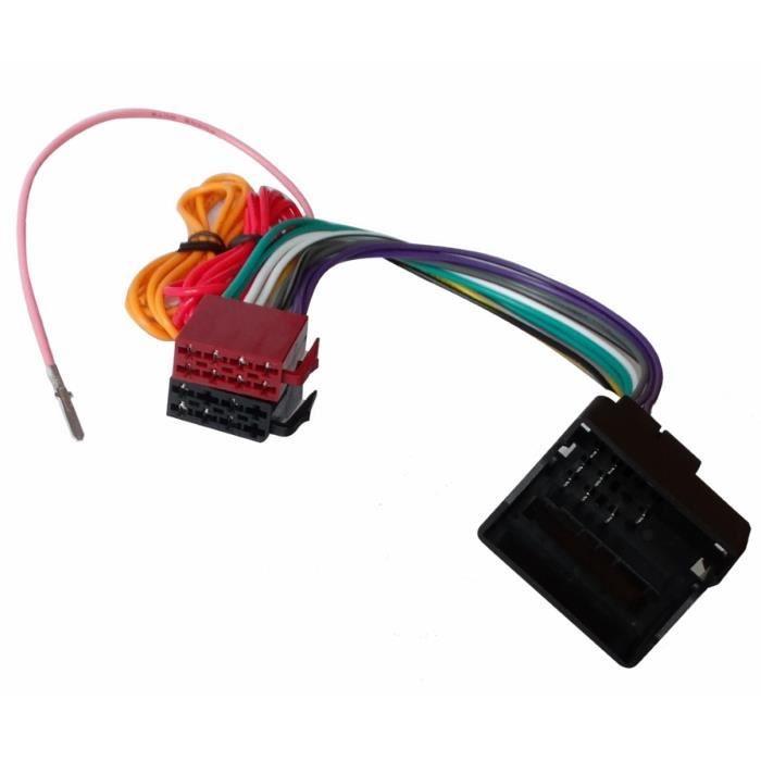 aerzetix adaptateur faisceau c ble fiche iso pour autoradio compatible opel astra h corsa c. Black Bedroom Furniture Sets. Home Design Ideas