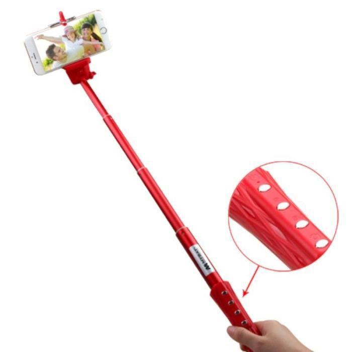 rouge monopode perche bras t lescopique extensible avec d clencheur photo int gr selfie pour. Black Bedroom Furniture Sets. Home Design Ideas