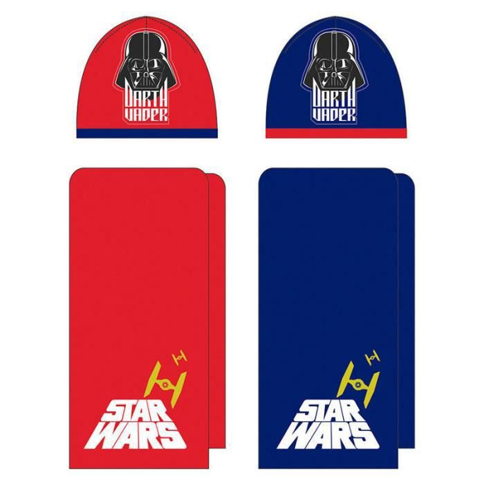 DISNEY , SW9358 , STAR WARS , lot de 2 bonnets et 2 écharpes