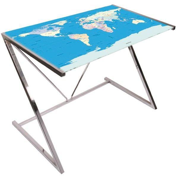 bureau mappemonde pieds chrom s achat vente bureau bureau mappemonde cdiscount. Black Bedroom Furniture Sets. Home Design Ideas