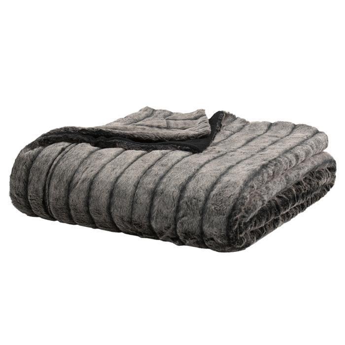 boutis couvre lit acrylique sioux gris anthracite face 100 acrylique dos polaire 100. Black Bedroom Furniture Sets. Home Design Ideas