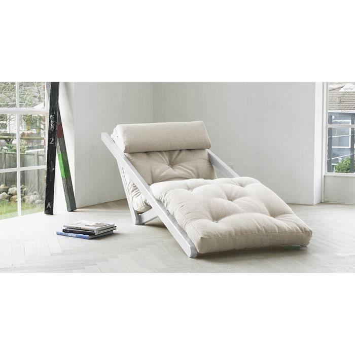 Fauteuil futon convertible figo karup blanc achat vente fauteuil sold - Fauteuil futon convertible ...