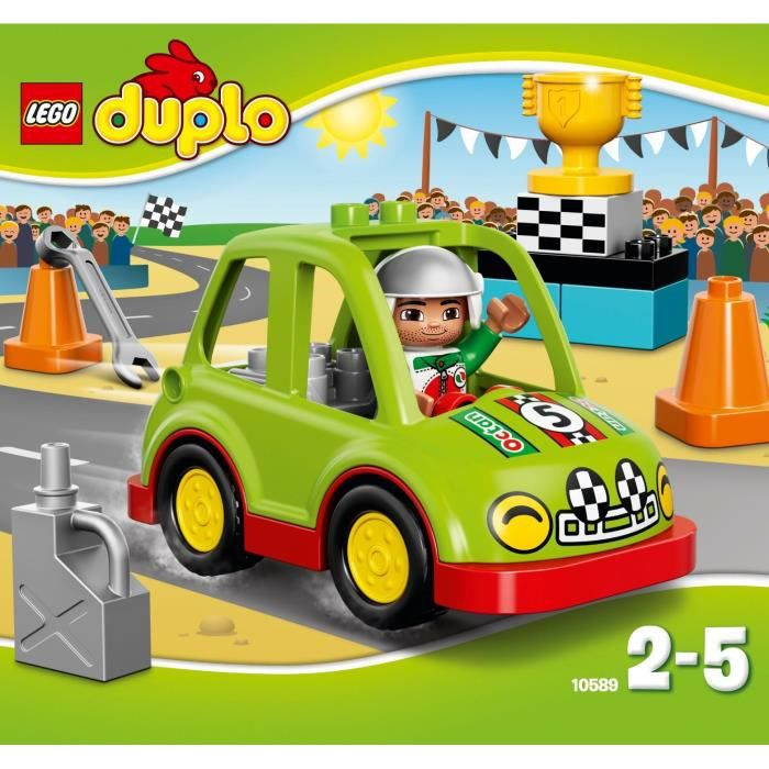 lego duplo 10589 la voiture de rallye achat vente assemblage construction cdiscount. Black Bedroom Furniture Sets. Home Design Ideas