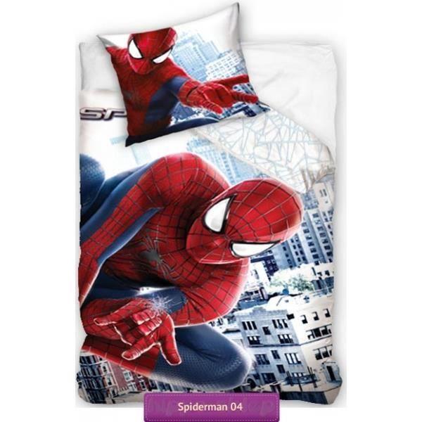parure de lit spiderman 160 x 200 achat vente parure. Black Bedroom Furniture Sets. Home Design Ideas