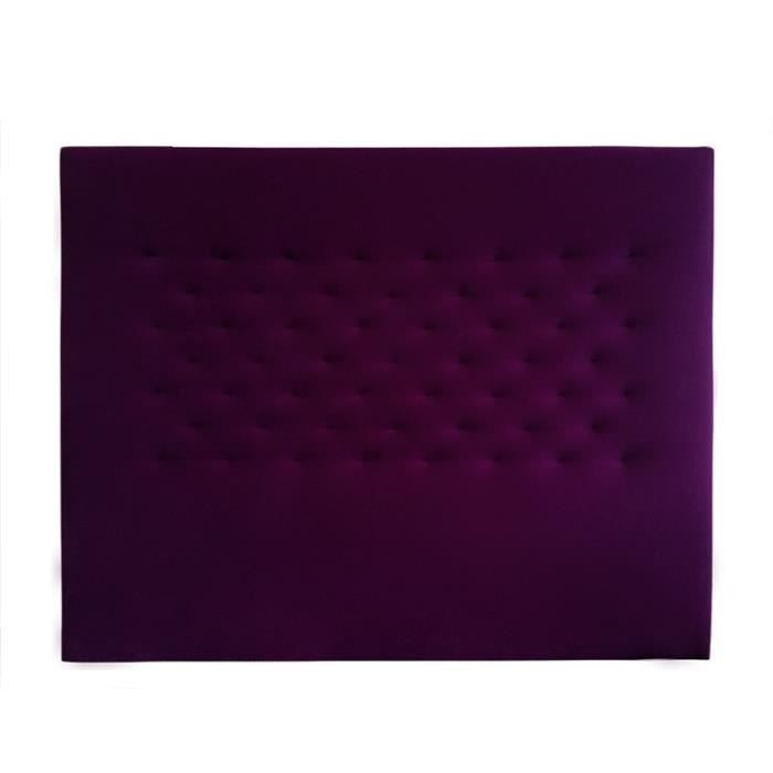 t te de lit dreamer velours violet sommier 160 achat vente t te de lit cdiscount. Black Bedroom Furniture Sets. Home Design Ideas