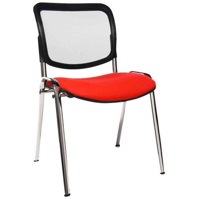 Chaise visiteur net point visit rouge achat vente for Chaise visiteur
