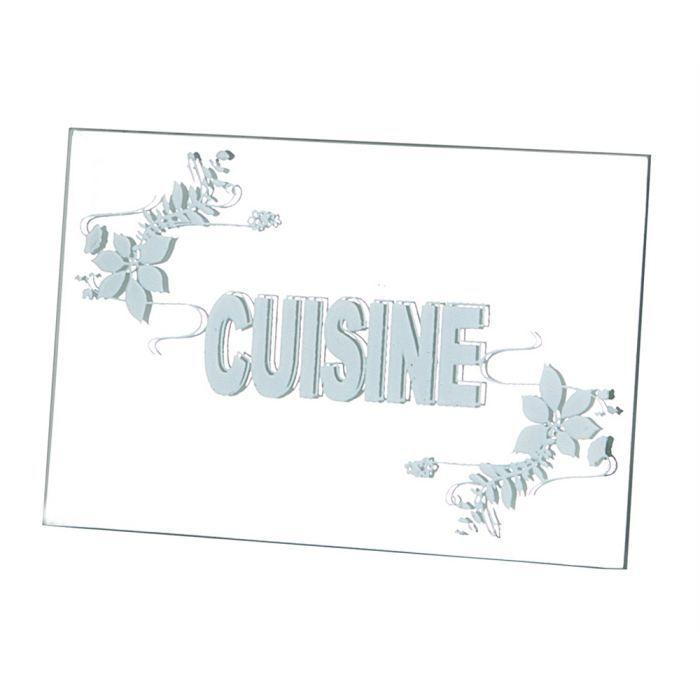 Plaque de porte miroir cuisine achat vente plaque de porte lettre decorative soldes d - Plaque de porte decorative ...