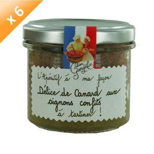 """BISCUITS APÉRITIF Lot de 6 Délices de Canard aux Oignons Confits """"L'"""