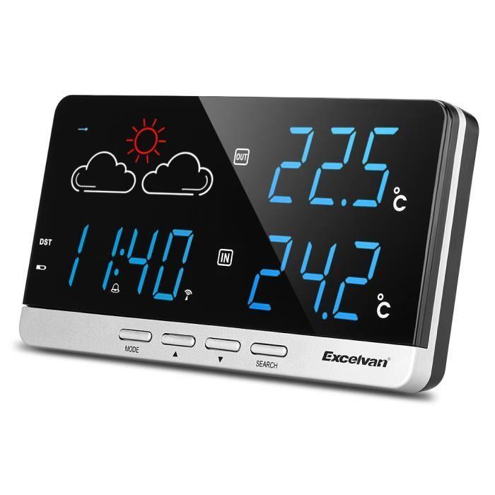 Excelvan wireless station m t o pr visiteur temp rature for Station meteo exterieur