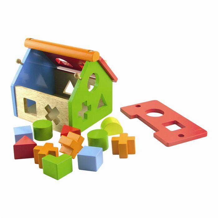 maison des formes bois achat vente bo te forme gigogne cdiscount. Black Bedroom Furniture Sets. Home Design Ideas