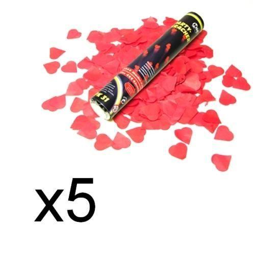 5 canons a confettis coeurs 1600 confettis - Canon A Confetti Mariage