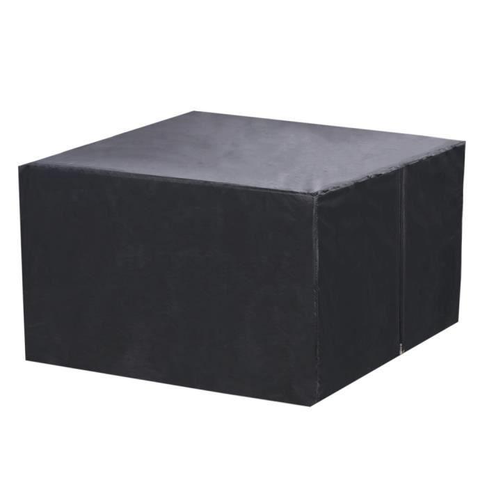imperm able noir pliage rectangle ext rieur de la couverture de meubles pour jardin patio table. Black Bedroom Furniture Sets. Home Design Ideas
