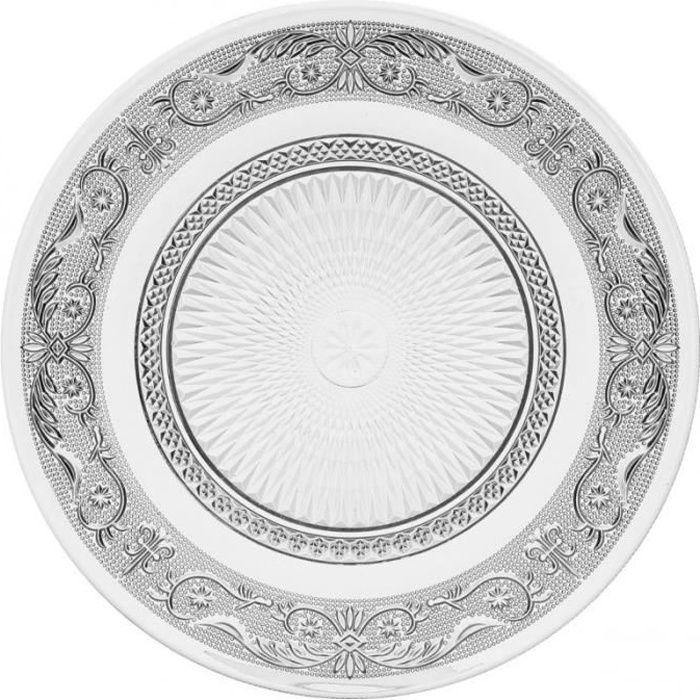 paris prix lot de 6 assiettes plates renaissance 25cm transparent achat vente assiette. Black Bedroom Furniture Sets. Home Design Ideas