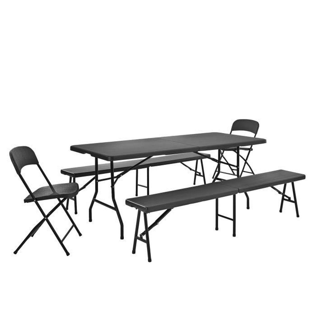 Groupe de tables avec 2 chaises et banquettes - Casa meubles de jardin ...