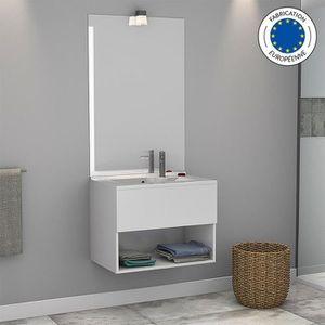 LAVABO - VASQUE Meuble salle de bain simple vasque ROSECO 70 - Bla