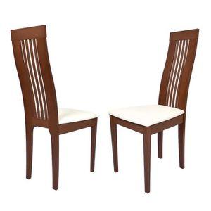 chaises en bois dossier haut de salle a manger achat vente chaises en bois dossier haut de. Black Bedroom Furniture Sets. Home Design Ideas