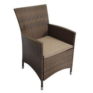 fauteuil rotin et acier achat vente fauteuil rotin et acier pas cher cdiscount. Black Bedroom Furniture Sets. Home Design Ideas