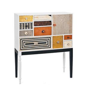 commode blanche 10 tiroirs