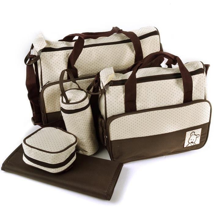 set de 5pcs sacs langer sacs couches multifonctionnel pour maman b b promenade ou voyage. Black Bedroom Furniture Sets. Home Design Ideas