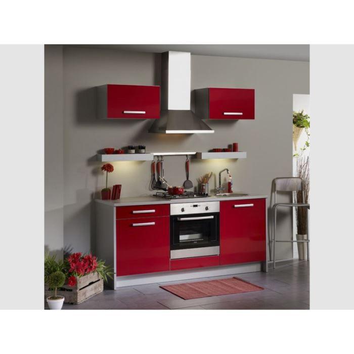 Cuisine compl te 185 cm box coloris rouge achat vente for Achat cuisine complete