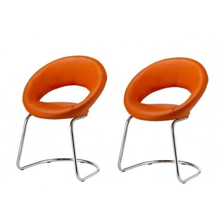 Lot de 2 chaises de salon salle à manger simili cuir multi usage ...