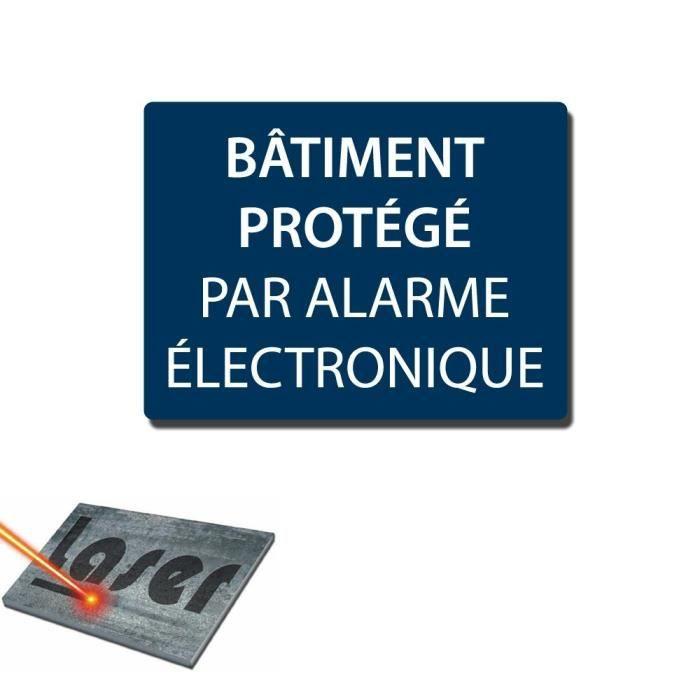Plaque grav e autocollante 20x15cm batiment sous alarme for Plaque autocollante