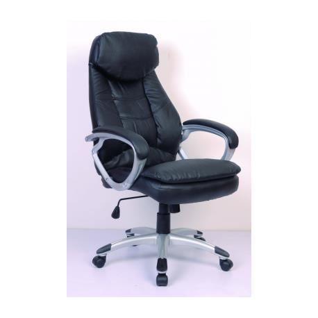 fauteuil de bureau cuir noir achat vente chaise de bureau noir cdiscount. Black Bedroom Furniture Sets. Home Design Ideas
