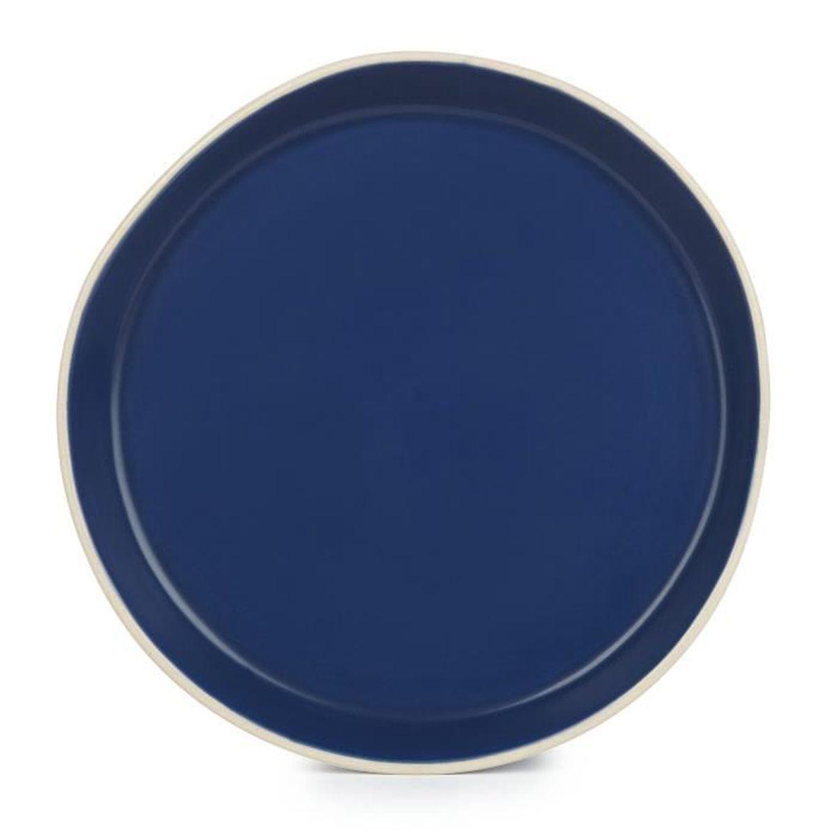 gamra assiette dessert en fa ence bleue marine d20cm achat vente assiette cdiscount. Black Bedroom Furniture Sets. Home Design Ideas