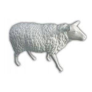 Statue mouton blanc grandeur nature achat vente statue statuette r sine verre cdiscount - Deco jardin mouton toulon ...