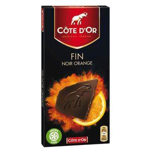 CHOCOLAT NOIR Côte d'or tablette de chocolat noir orange 100g