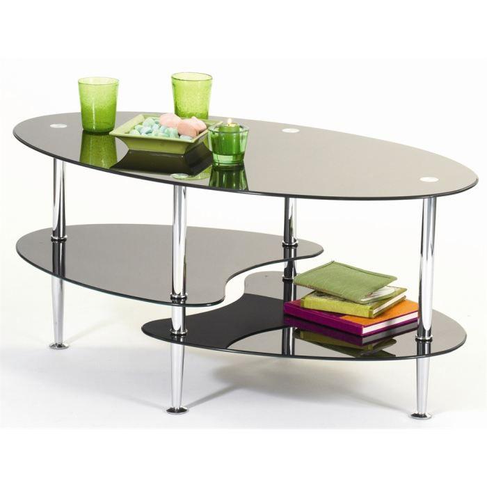 Table basse joko en verre prix pas cher cdiscount - Table basse en verre cdiscount ...