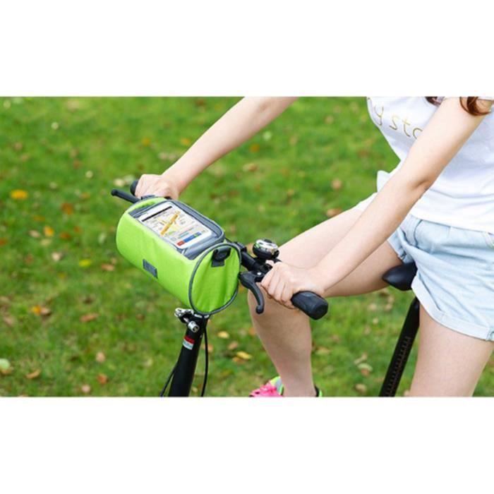 DÉCORATION DE VÉLO Le sac avant de bicyclette Téléphone Touch Pack sa