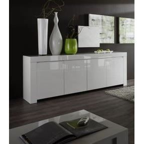 Buffet bahut blanc laqu 3 ou 4 portes design pietra bahut 4 portes achat - Bahut design blanc laque ...