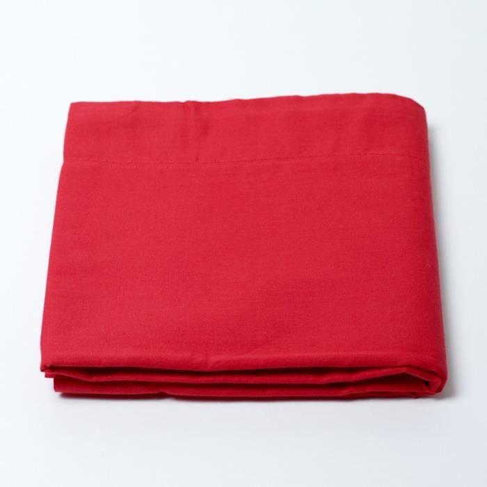 drap housse 57 fils cm 140 x 190 cm linge rouge achat vente drap housse les soldes sur. Black Bedroom Furniture Sets. Home Design Ideas