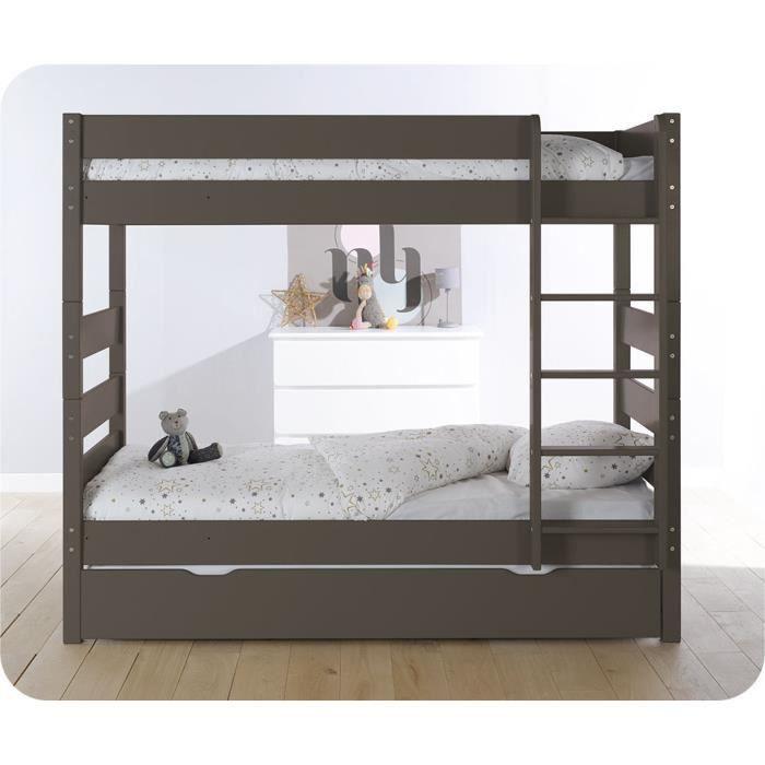lit superpos kids taupe et sommier gigogne lit superposable kids livr avec son sommier. Black Bedroom Furniture Sets. Home Design Ideas