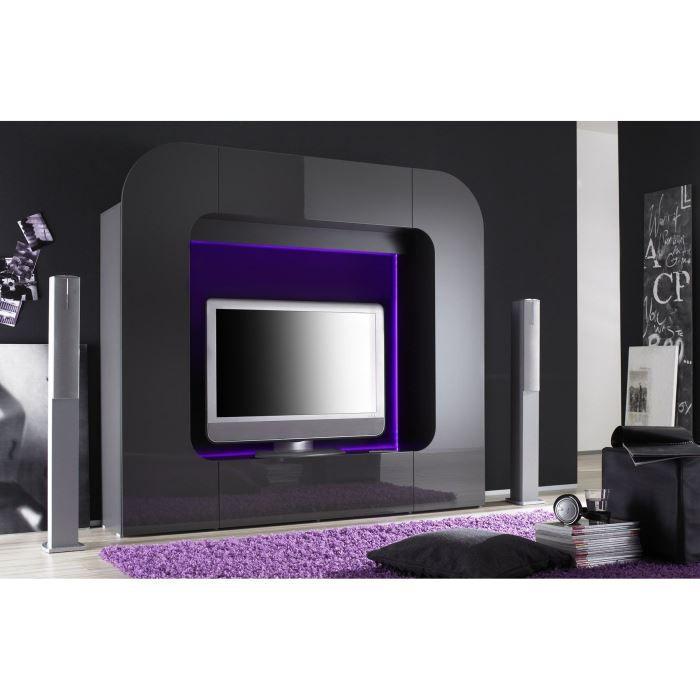 Meuble tv luner 201 laqu option d 39 clairage achat vente meuble tv - Vente privee meuble tv ...