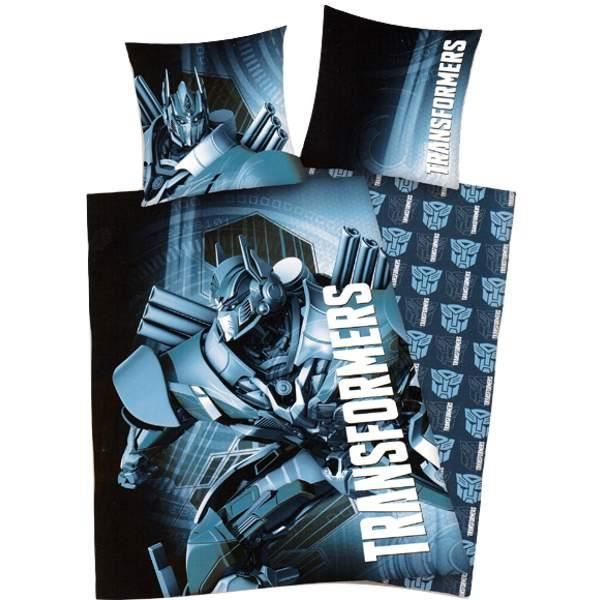 parure de lit transformers bleu achat vente parure de couette cdiscount