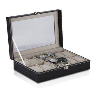 coffret de rangement pour montres achat vente pas cher cdiscount. Black Bedroom Furniture Sets. Home Design Ideas