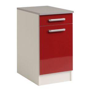 Element cuisine bas rouge achat vente element cuisine - Elements bas de cuisine ...