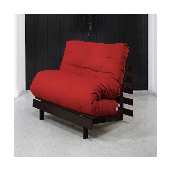 Fauteuil convertible roots 90 weng futon rouge achat vente fauteuil pin - Fauteuil futon convertible 1 place ...