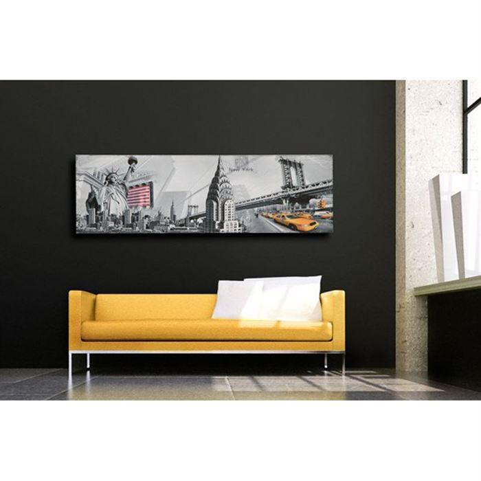 Tableau new york 45x140 cm achat vente tableau toile - Tableau deco new york ...