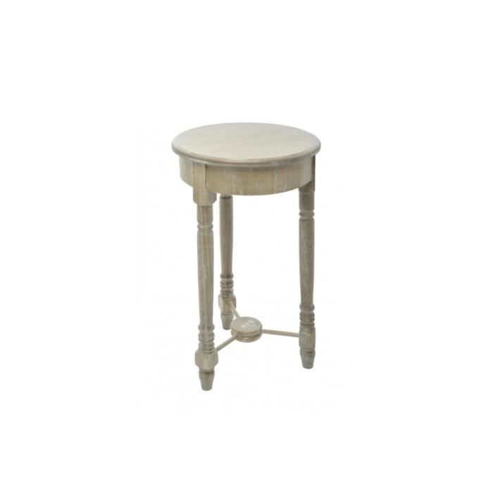 Table ronde bois naturel m 35x60cm j line achat vente for Table a manger ronde bois