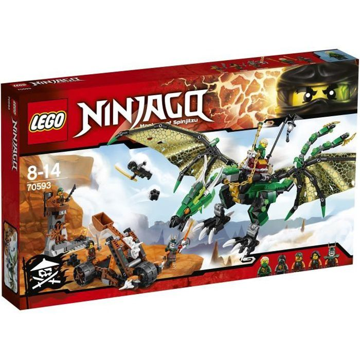 assemblage construction lego ninjago 70593 le dragon meraude de lloyd