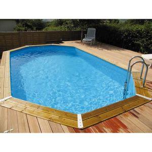 Piscine bois aspect bois achat vente piscine bois for Piscine bois hexagonale