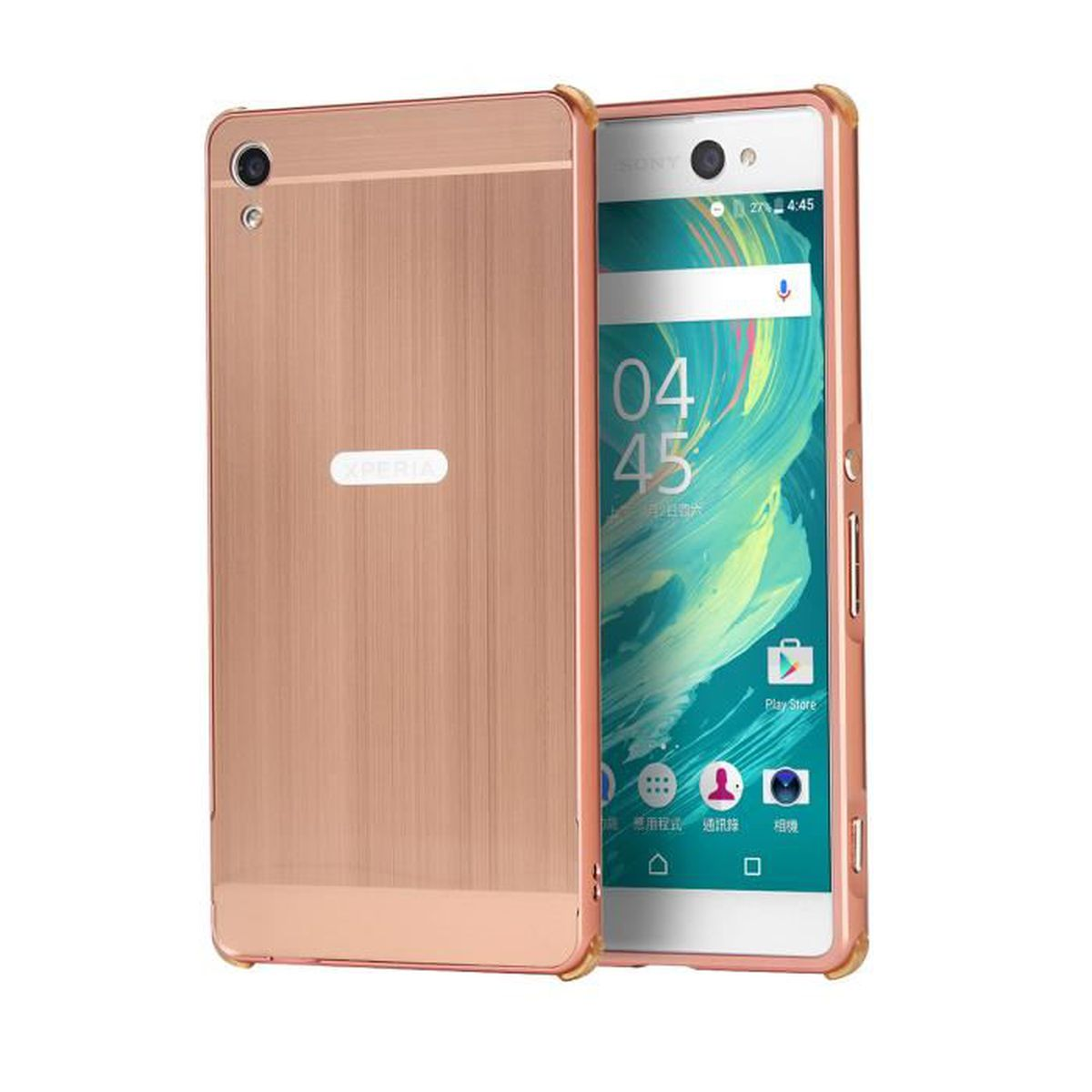 jwmall coque sony xperia xa rose d 39 or achat coque. Black Bedroom Furniture Sets. Home Design Ideas