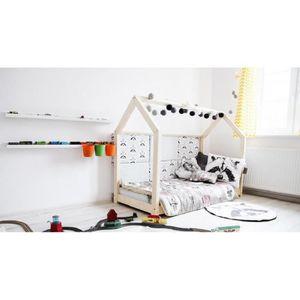 lit cabane maison en pin massif ideal enfant achat vente structure de lit lit cabane maison. Black Bedroom Furniture Sets. Home Design Ideas