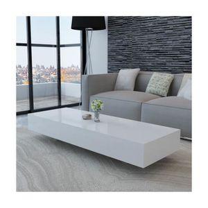 Table basse rectangulaire blanc laque achat vente - Table basse laque blanc pas cher ...