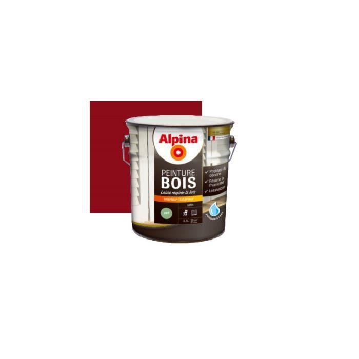 Peinture bois microporeuse 0 5l rouge basque achat for Peinture sur bois vernis