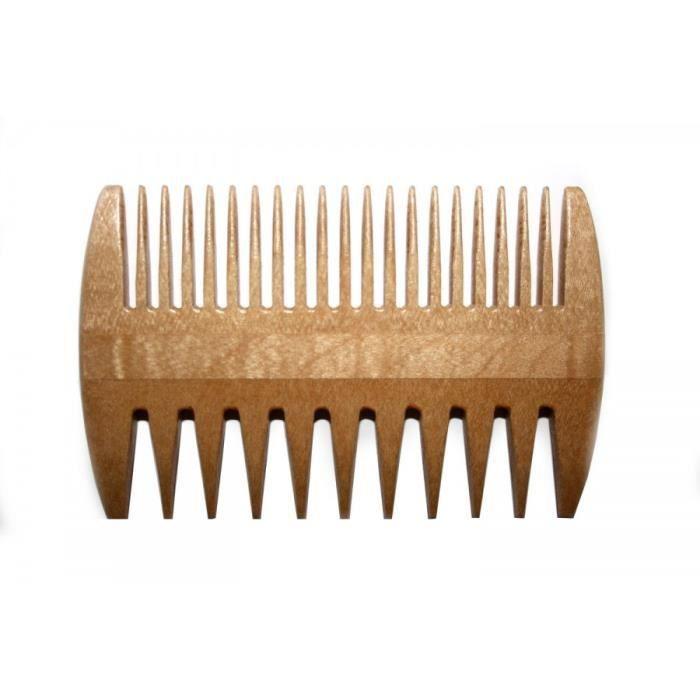 Peigne double face en bois de h tre gros fin longueur 9 for Vente bois flotte gros