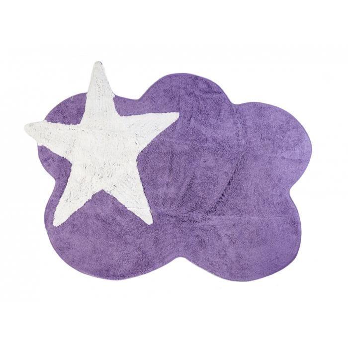 tapis chambre enfant et b b nuage et toile violet lavable 120x160 cm achat vente tapis. Black Bedroom Furniture Sets. Home Design Ideas
